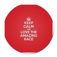 K C Love the Amazing Race Round Car Magnet