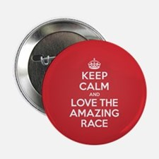 """K C Love the Amazing Race 2.25"""" Button (100 pack)"""