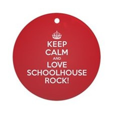 K C Love Schoolhouse Rock Ornament (Round)