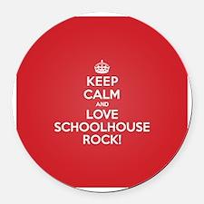 K C Love Schoolhouse Rock Round Car Magnet