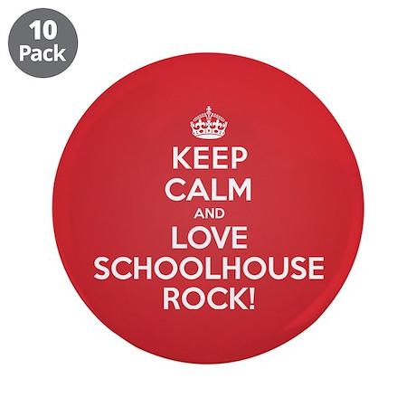"""K C Love Schoolhouse Rock 3.5"""" Button (10 pack)"""