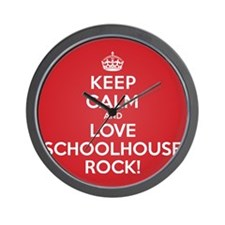K C Love Schoolhouse Rock Wall Clock