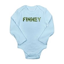 Finney, Vintage Camo, Long Sleeve Infant Bodysuit