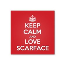 "K C Love Scarface Square Sticker 3"" x 3"""