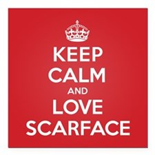 "K C Love Scarface Square Car Magnet 3"" x 3"""