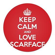 K C Love Scarface Round Car Magnet