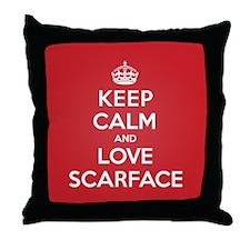 K C Love Scarface Throw Pillow