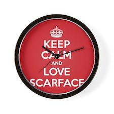 K C Love Scarface Wall Clock