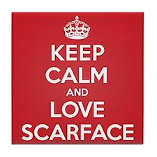 K C Love Scarface Tile Coaster