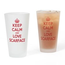 K C Love Scarface Drinking Glass