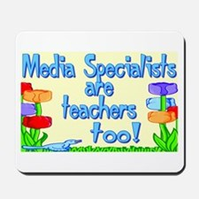 Media Specialists Flowers Mousepad