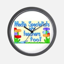 Media Specialists Flowers Wall Clock