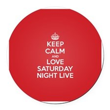 K C Love Saturday Night Live Round Car Magnet
