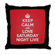 K C Love Saturday Night Live Throw Pillow