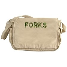 Forks, Vintage Camo, Messenger Bag