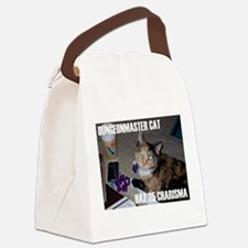 Dungeonmaster Cat Canvas Lunch Bag