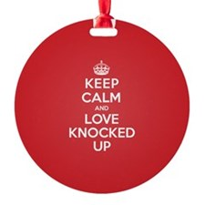 K C Love Knocked Up Ornament