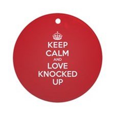K C Love Knocked Up Ornament (Round)