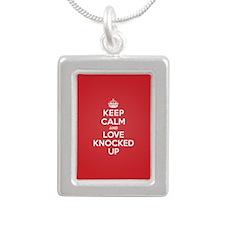 K C Love Knocked Up Silver Portrait Necklace