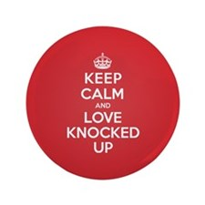 "K C Love Knocked Up 3.5"" Button (100 pack)"