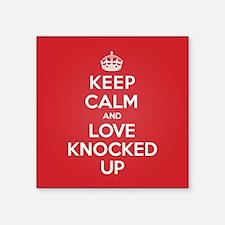 "K C Love Knocked Up Square Sticker 3"" x 3"""