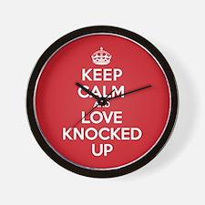 K C Love Knocked Up Wall Clock
