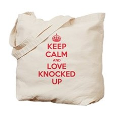 K C Love Knocked Up Tote Bag