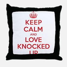 K C Love Knocked Up Throw Pillow