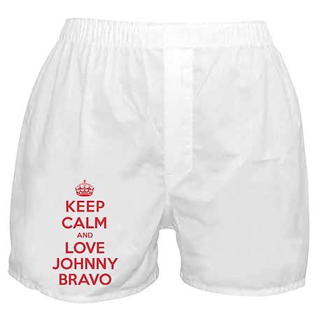 K C Love Johnny Bravo Boxer Shorts