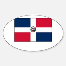 The Dominican Republic Flag Picture Oval Decal