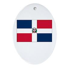 The Dominican Republic Flag Picture Ornament (Oval