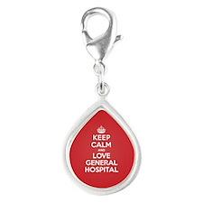 K C Love General Hospital Silver Teardrop Charm