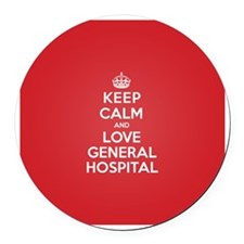 K C Love General Hospital Round Car Magnet
