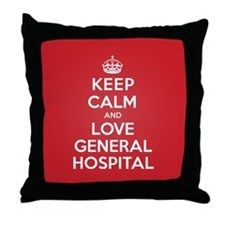 K C Love General Hospital Throw Pillow