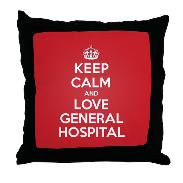 Throw Pillows Dollar General : K C Love General Hospital Throw Pillow by KeepCalmParody
