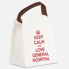 K C Love General Hospital Canvas Lunch Bag