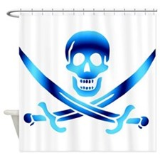 Pirate logo e3 Shower Curtain