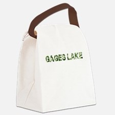Gages Lake, Vintage Camo, Canvas Lunch Bag