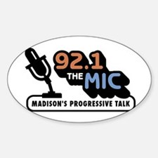 92.1 The Mic Oval Decal