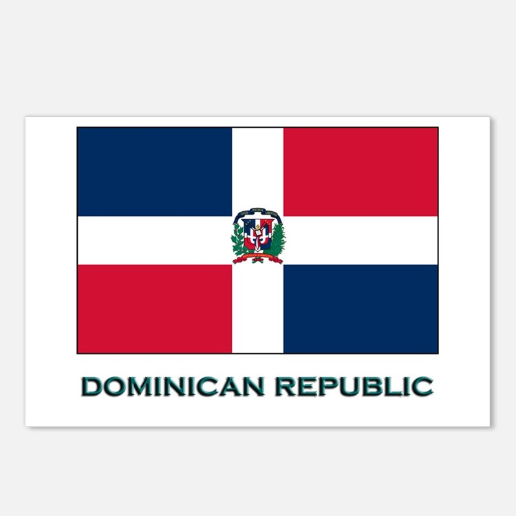 The Dominican Republic Flag Stuff Postcards (Packa