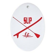 Paddleboard Ornament (Oval)