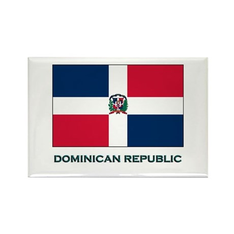The Dominican Republic Flag Stuff Rectangle Magnet