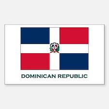 The Dominican Republic Flag Stuff Bumper Stickers