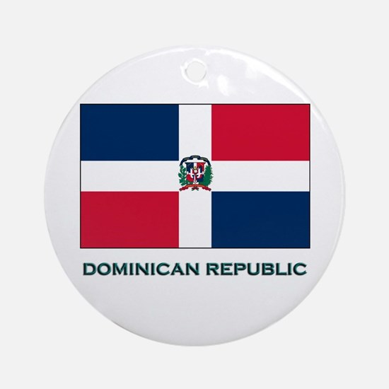 The Dominican Republic Flag Stuff Ornament (Round)