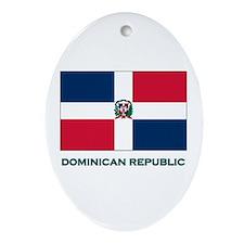 The Dominican Republic Flag Stuff Oval Ornament