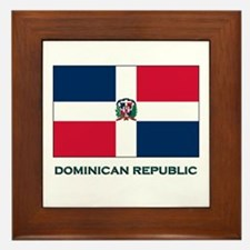 The Dominican Republic Flag Stuff Framed Tile