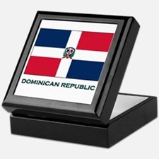 The Dominican Republic Flag Stuff Keepsake Box