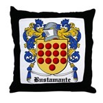 Bustamante Coat of Arms Throw Pillow