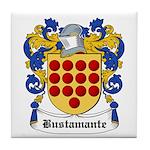 Bustamante Coat of Arms Tile Coaster