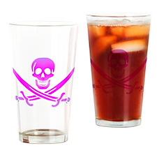 Pirate logo e1 Drinking Glass